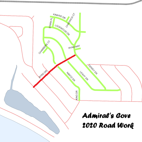2020 Admiral's Cove Roadwork