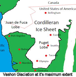 Vashon Glaciation Map